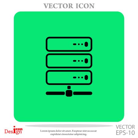 gigabyte: computer server vector icon