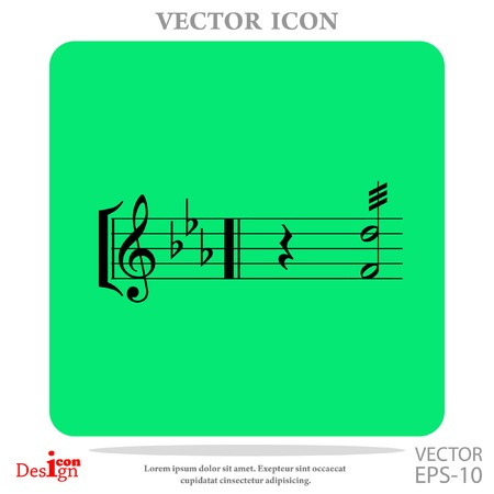 music vector icon Illustration