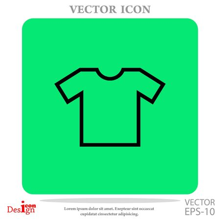 t-shirt vector icon Illustration
