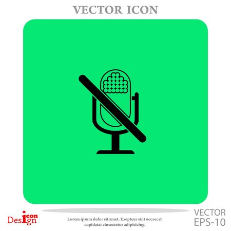 turn off: turn off microphone vector icon