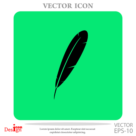 feather vector: feather vector icon