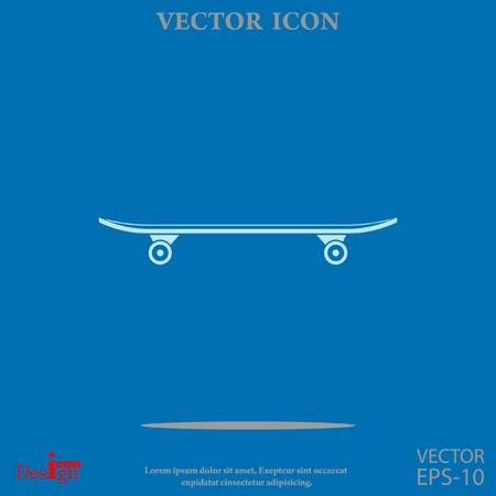 skateboard vector icon