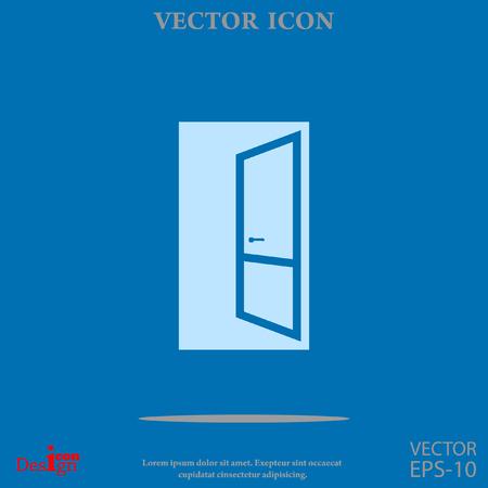 doorknob: open door vector icon