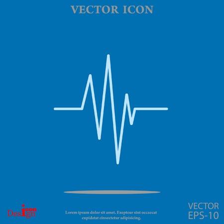 electrocardiograma: cardiograma del vector del icono