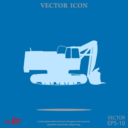 earth mover: excavator vector icon