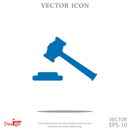 arbitrate: hammer judge vector icon