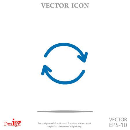 abstract recycle arrows: cyclic vector icon