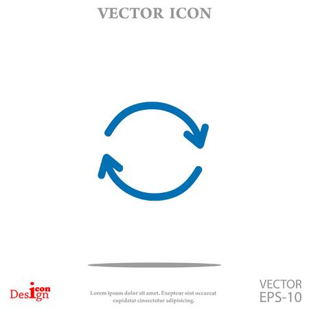 cíclico: icono de vector cíclico Vectores