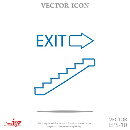 upstairs: exit vector icon
