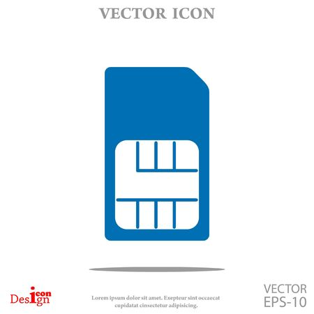 prepaid card: sim card vector icon