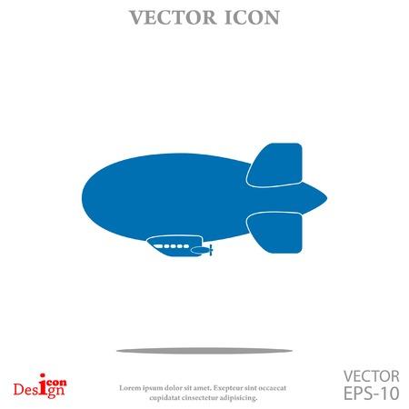 blimp: dirigible vector icon Illustration