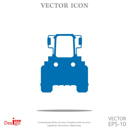 agronomy: tractor vector icon Illustration