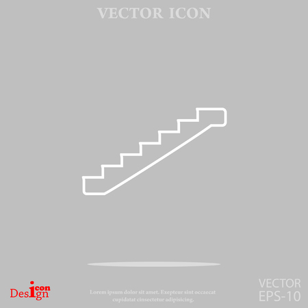 high way: staircase vector icon Illustration