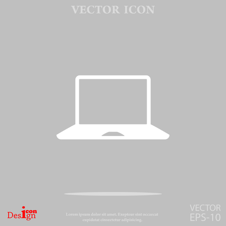 laptop vector: laptop vector icon Illustration