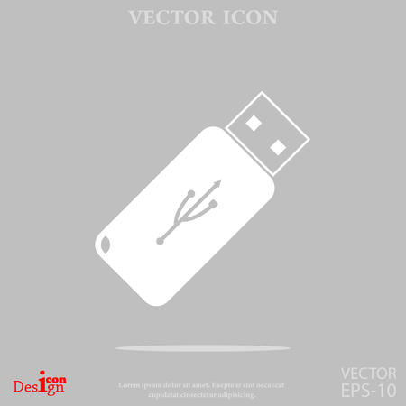 pocket pc: usb flash vector icon