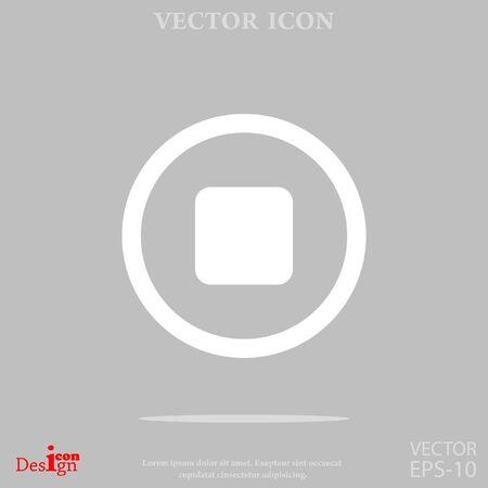 volume control: stop button vector icon