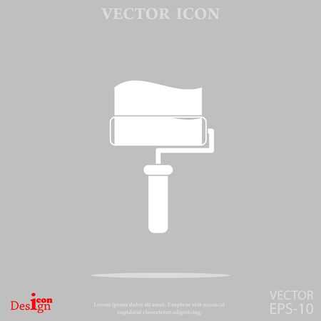 paintroller: paint roller vector icon Illustration