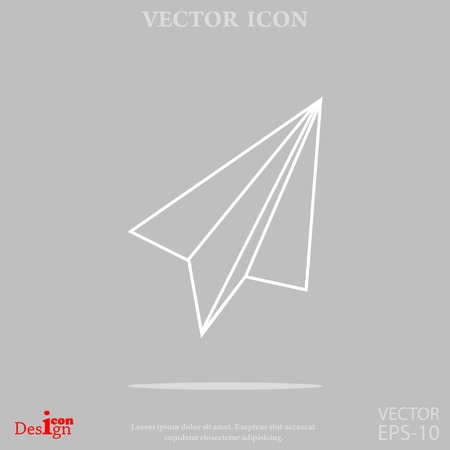 Paper plane vector icon royalty free cliparts vectors and stock paper plane vector icon vector malvernweather Gallery