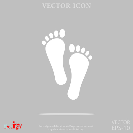 barefoot walking: foot vector icon
