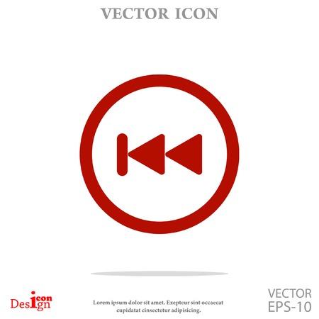 achteruit knop vector icon