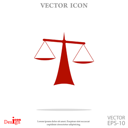 trial balance: Justice vector icon