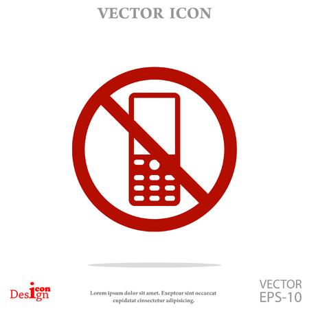 désactiver téléphone vecteur icône Vecteurs
