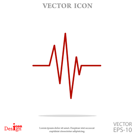 cardiogram vector icon