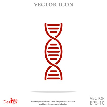 dna vector icon Illustration
