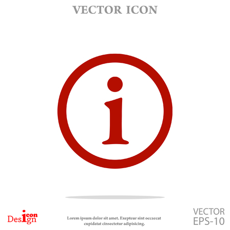 info vector icon Ilustração