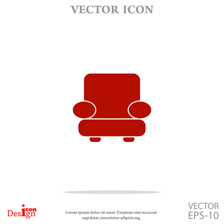 easy chair: easy chair vector icon