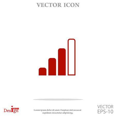 radio signal level vector icon