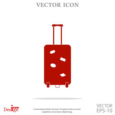 suitcase vector icon Illustration