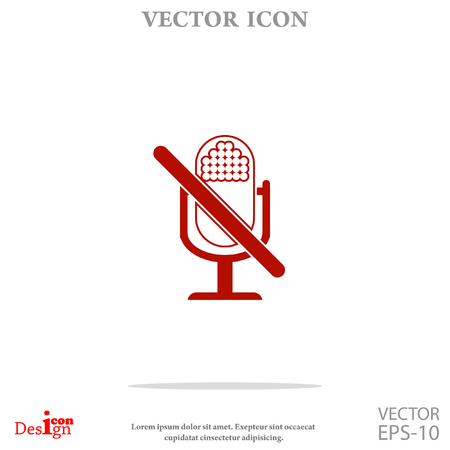 turn off microphone vector icon