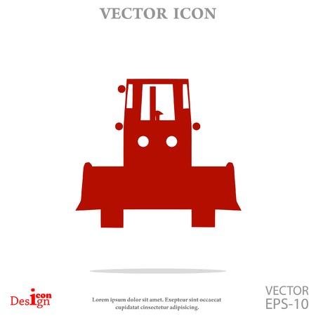 road grader: bulldozer vector icon Illustration