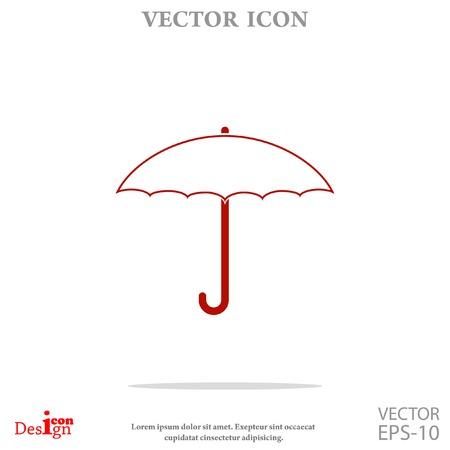 umbrella vector icon Illustration