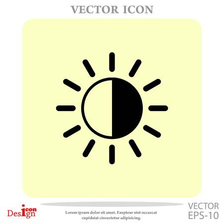 brightness: brightness vector icon Illustration