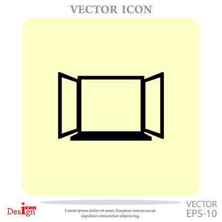 open window: open window vector icon Illustration
