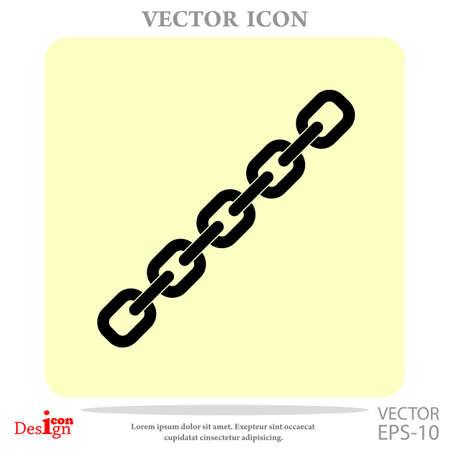chain vector icon Illustration