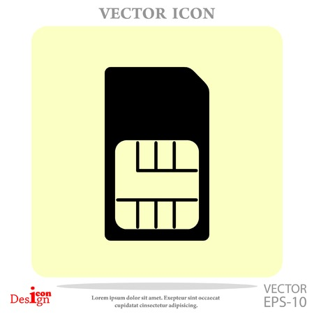 gsm phone: sim card vector icon