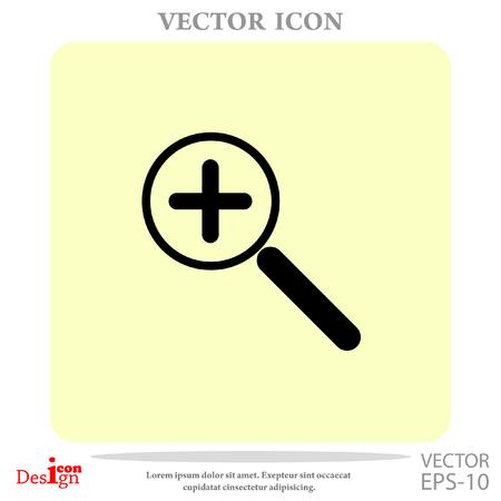 zoom: zoom vector icon Illustration