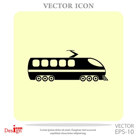 commuter: modern train vector icon Illustration