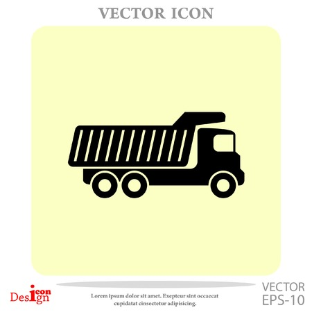 earth mover: dump truck vector icon