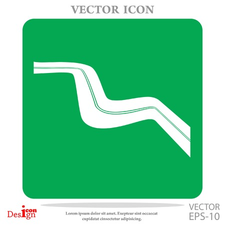 bitumen: highway vector icon Illustration