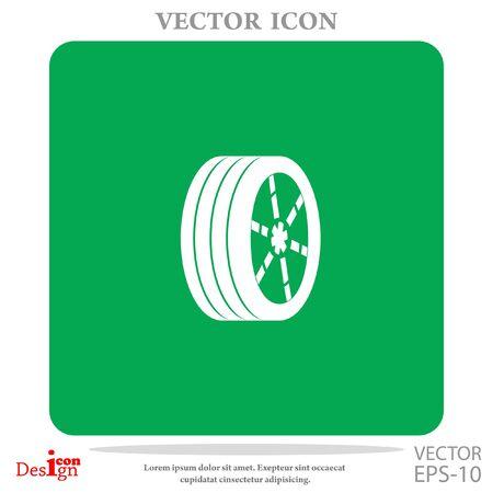 rim: wheel vector icon Illustration