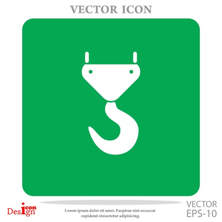 polea: grúa de gancho icono del vector