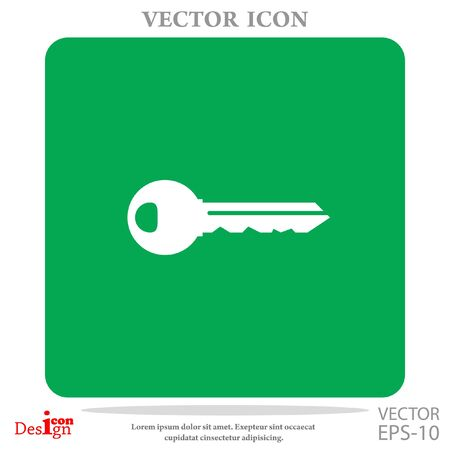 tool unlock: key vector icon
