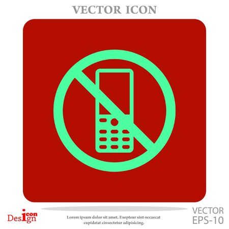 turn: turn off phone vector icon Illustration