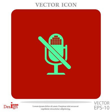 turn: turn off microphone vector icon