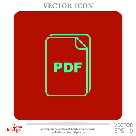 pdf: pdf vector icon