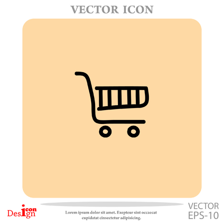 shopping chart vector icon